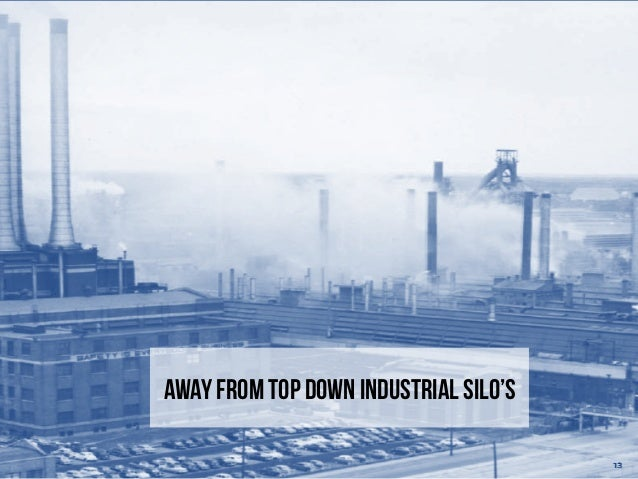 Away from Top down Industrial silo's