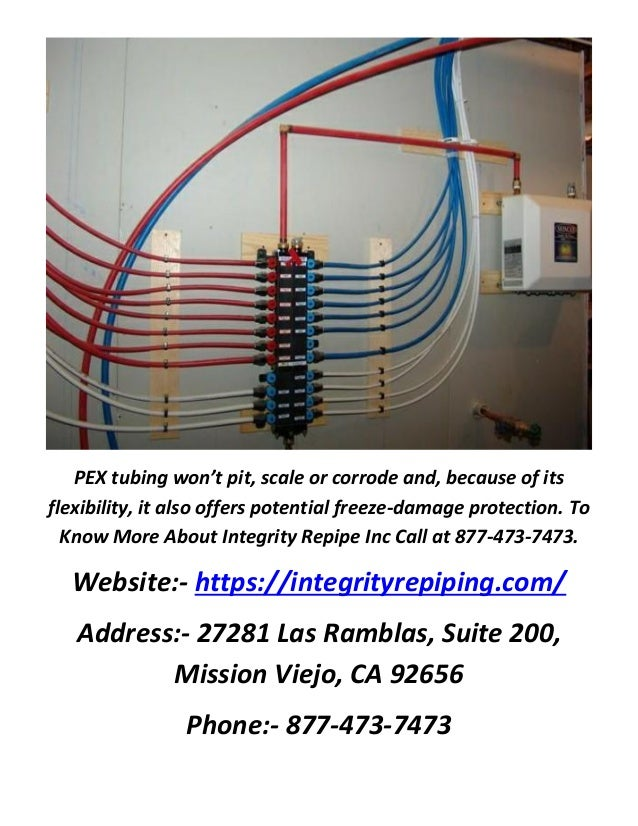 Integrity repipe inc pex repiping for Pex pipe freeze protection