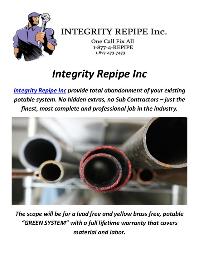 Integrity repipe inc pex vs copper for Pex versus copper