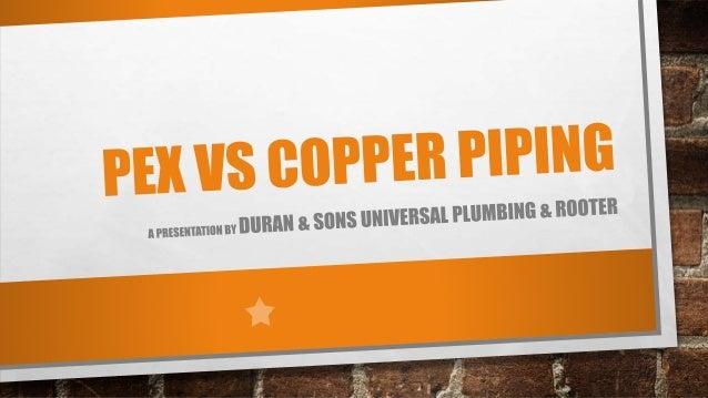 PEX vs Copper Piping