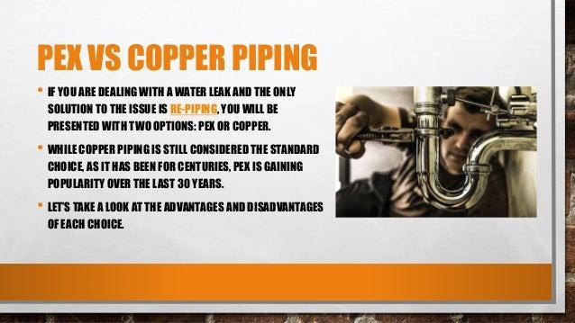 Pex vs copper piping for Pex versus copper