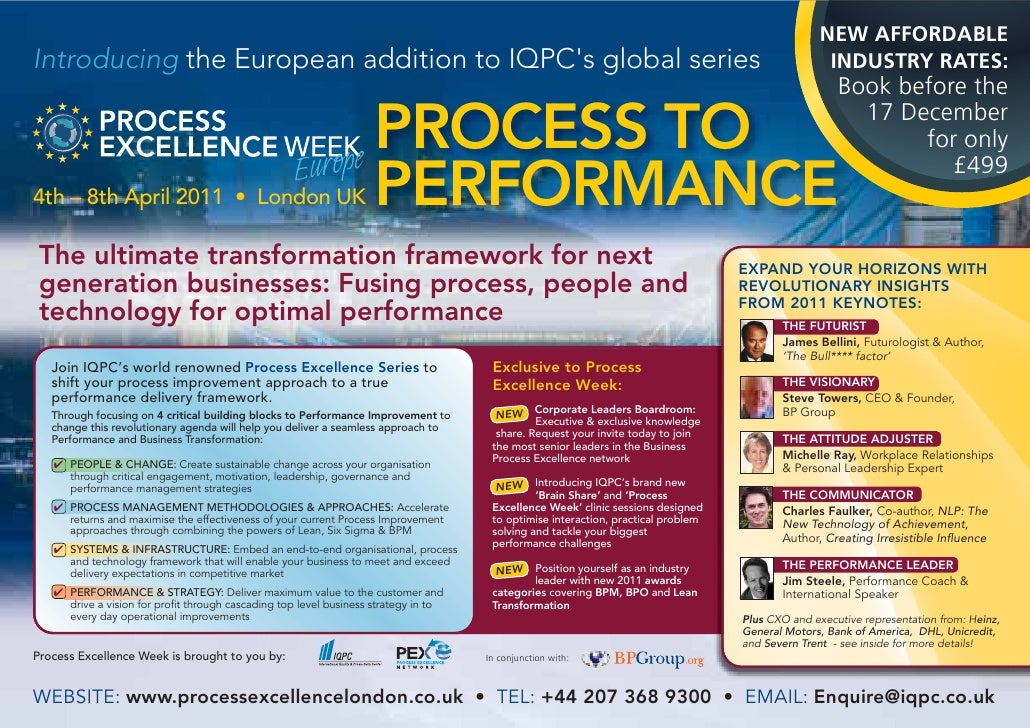 NEW AFFORDABLEIntroducing the European addition to IQPCs global series                                                    ...