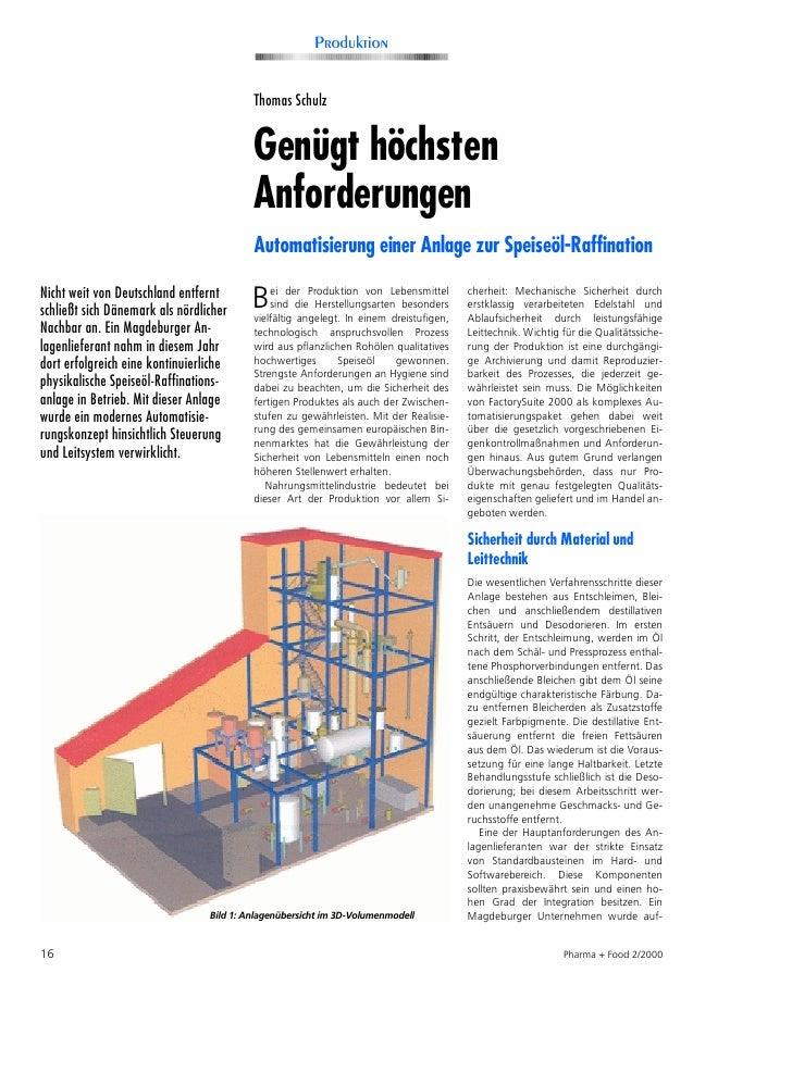 Produktion                                             Thomas Schulz                                             Genügt hö...