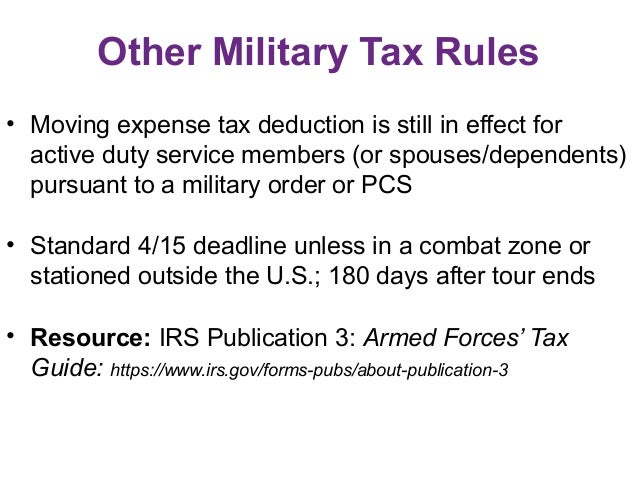 Income Tax Tips For Pfms Working With Military Families