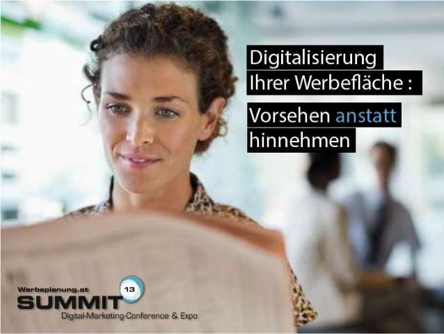 20130711 - Praxisforum: Digitalisierung der Werbewelt: Vorsehen anstatt hinnehmen - TBS group - Alexandre Arslan
