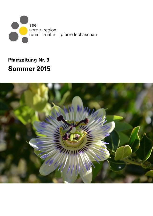 Pfarrzeitung Nr. 3 Sommer 2015
