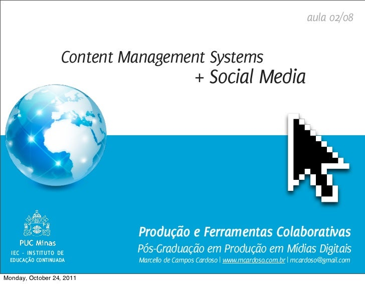 aula 02/08                   Content Management Systems                                              + Social Media       ...