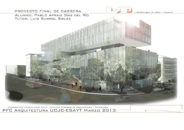 Láminas PFC Arquitectura Pablo Apraiz