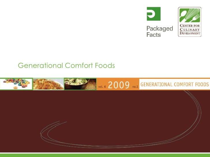 Generational Comfort Foods<br />