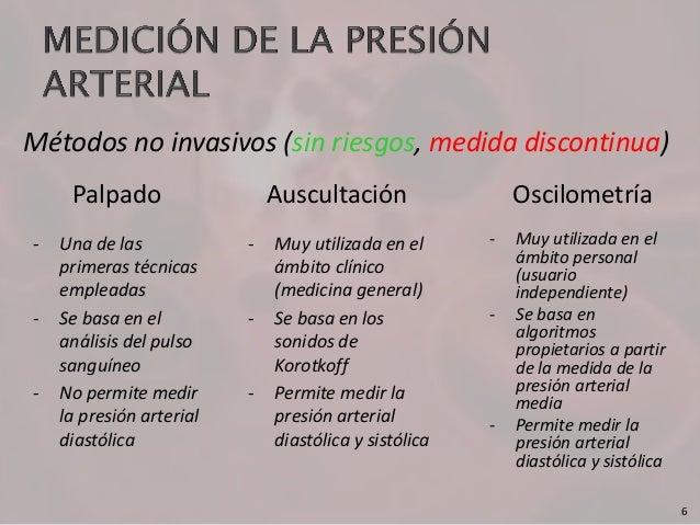 Sistema automático para la estimación de la presión..