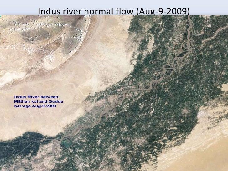 Indus river normal flow (Aug-9-2009)