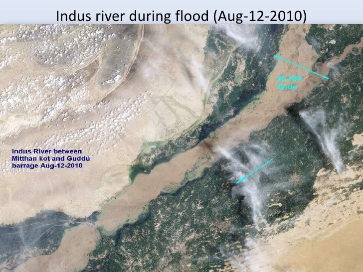 Indus river during flood (Aug-12-2010)