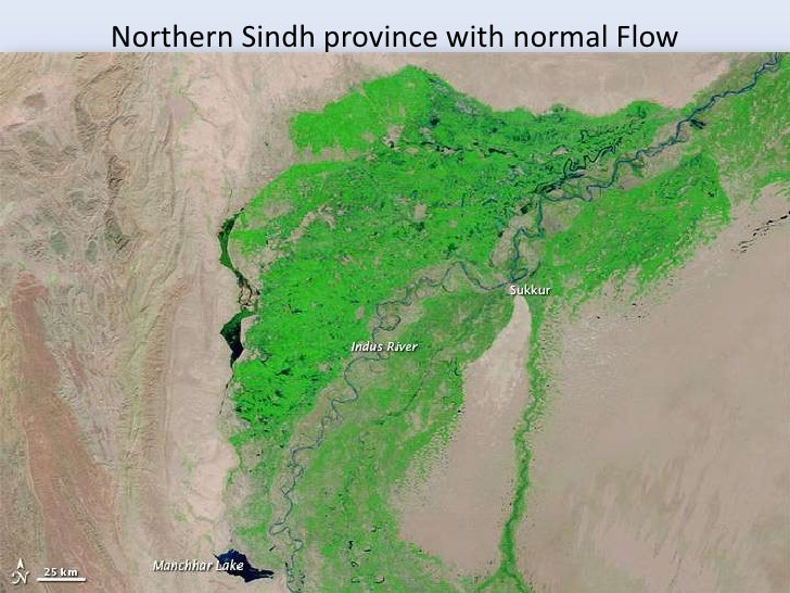 Northern Sindh province with normal Flow