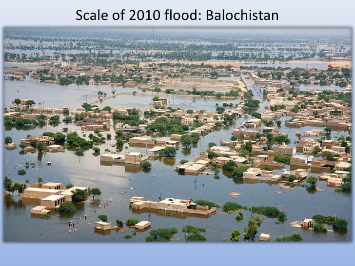 Scale of 2010 flood: Balochistan
