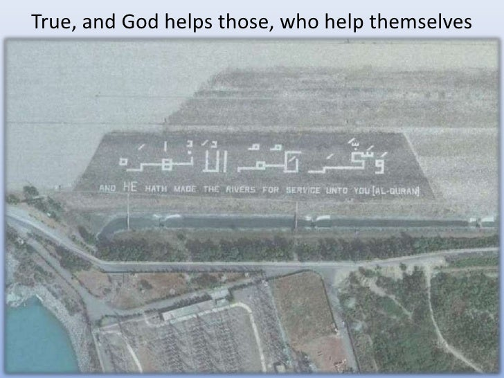True, and God helps those, who help themselves