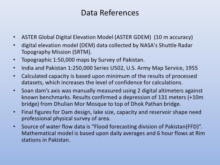 Data References• ASTER Global Digital Elevation Model (ASTER GDEM) (10 m accuracy)• digital elevation model (DEM) data col...