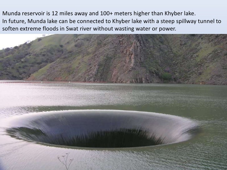 Munda reservoir is 12 miles away and 100+ meters higher than Khyber lake.In future, Munda lake can be connected to Khyber ...
