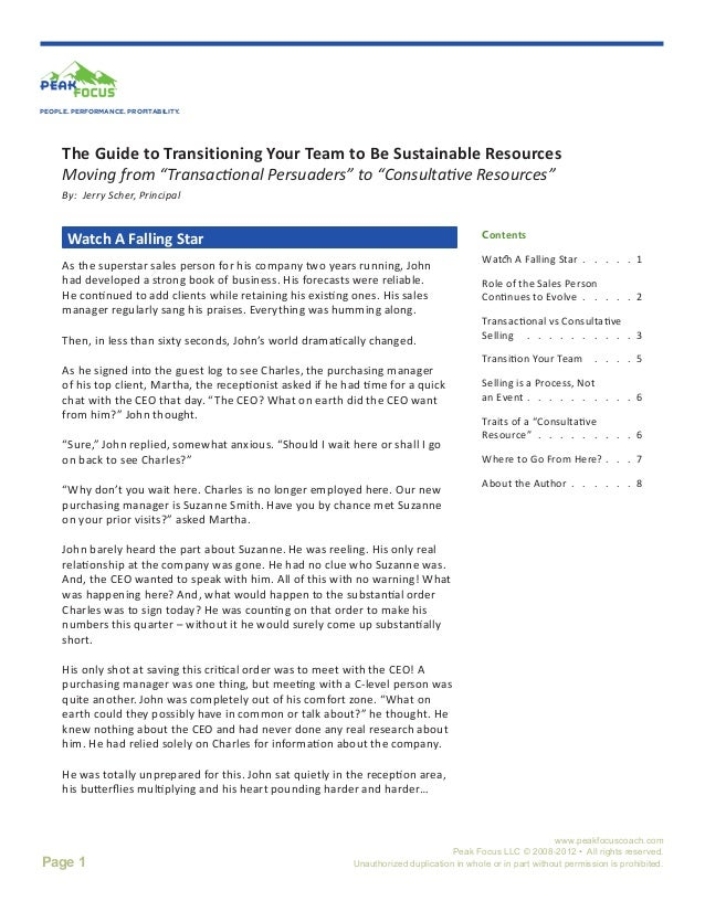 """PEOPLE. PERFORMANCE. PROFITABILITY.     The Guide to Transitioning Your Team to Be Sustainable Resources     Moving from """"..."""