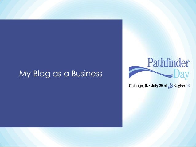 My Blog as a Business