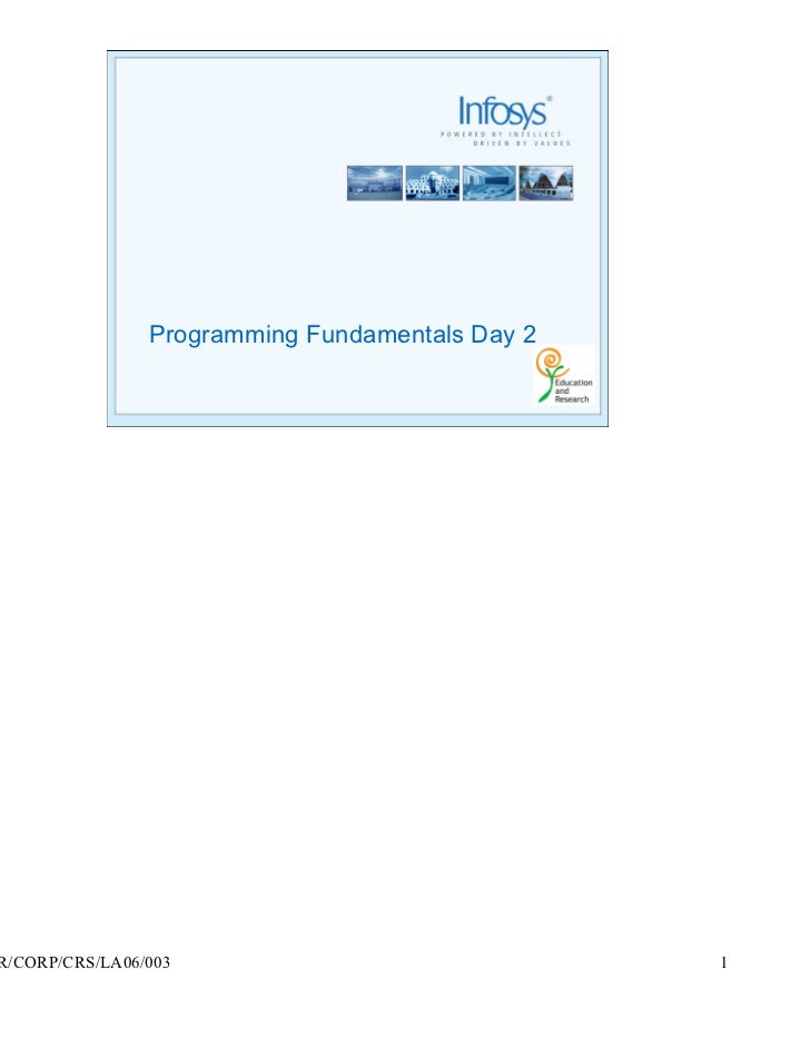 Programming Fundamentals Day 2