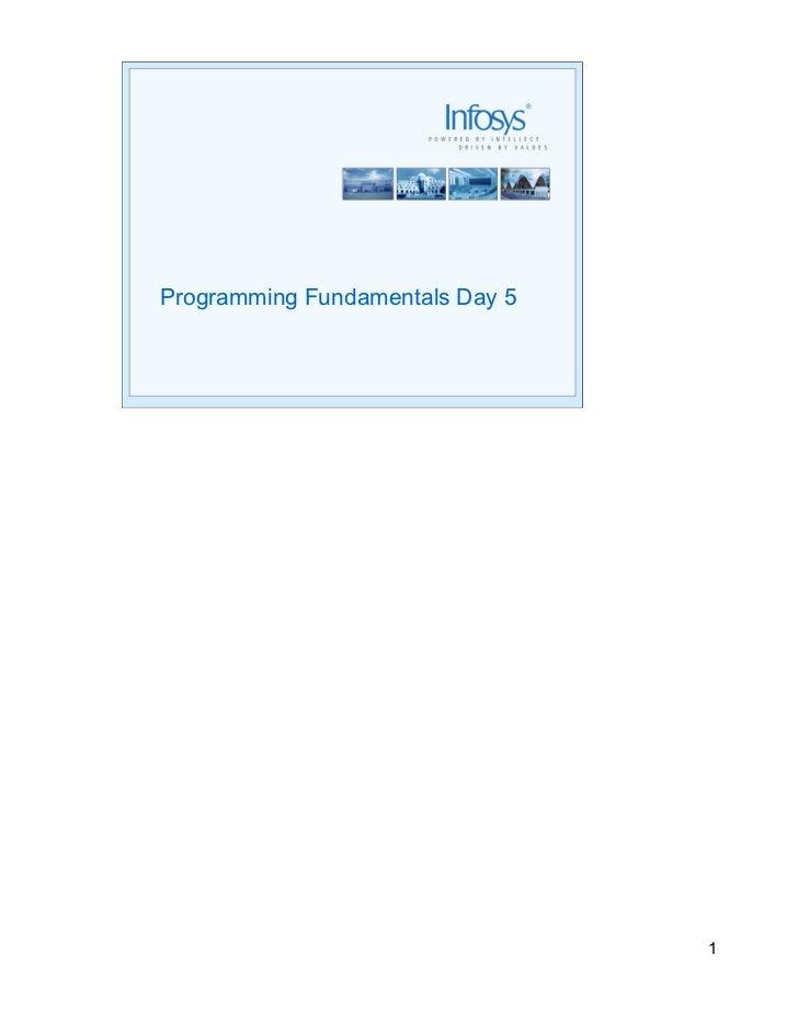 Programming Fundamentals Day 5