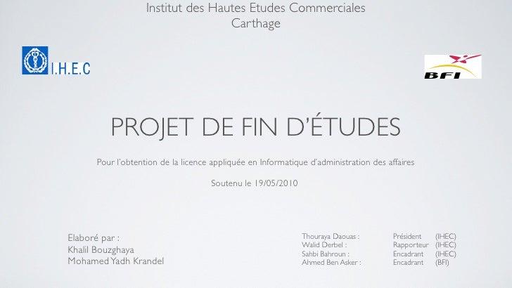 Institut des Hautes Etudes Commerciales                        République Tunisienne                                      ...