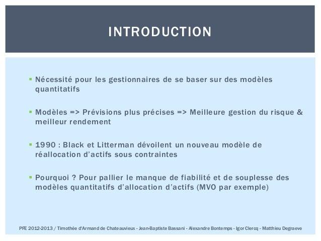 Pfe 2013 ece paris_black_litterman (Français) Slide 2