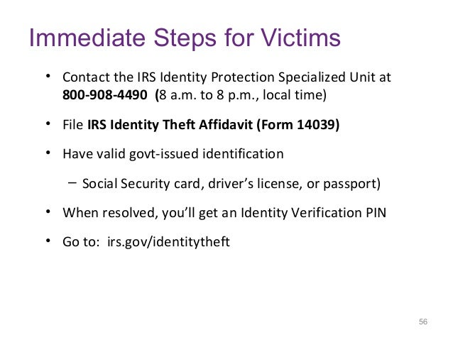 Identity Theft How To Reduce Your Risk