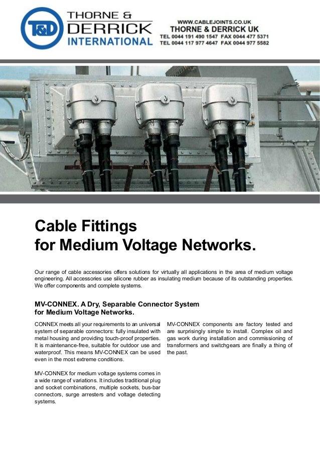 Pfisterer Cable Fittings 11kV 33kV 52kV - Pfisterer MV ...
