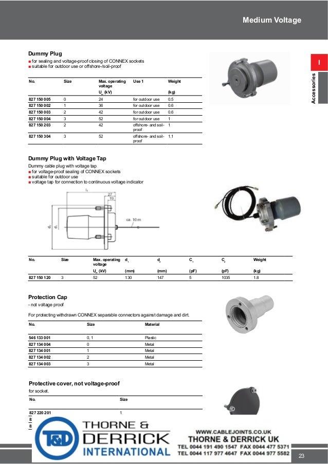 Pfisterer Cable Fittings 11kv 33kv 52kv Pfisterer Mv