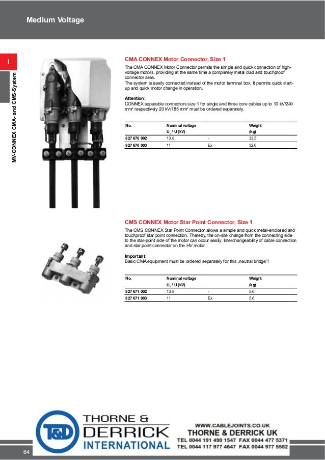 Pfisterer Connex High Voltage Motor Connectors 13