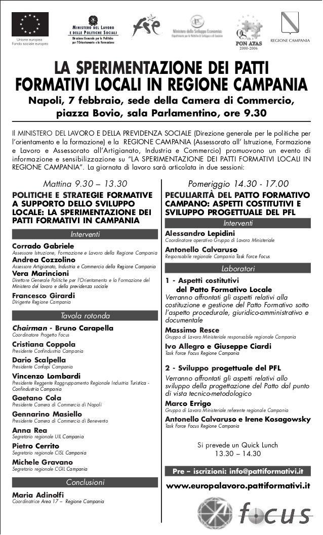 Direzione Generale per le Politiche                              per lOrientamento e la Formazione     LA SPERIMENTAZIONE ...