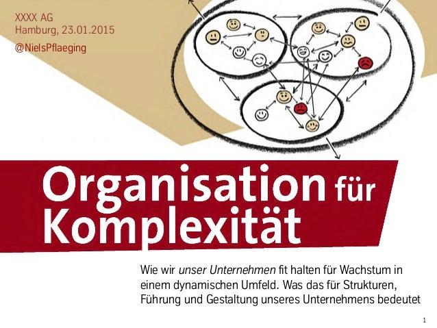 1 XXXX AG Hamburg, 23.01.2015 @NielsPflaeging Wie wir unser Unternehmen fit halten für Wachstum in einem dynamischen Umfel...