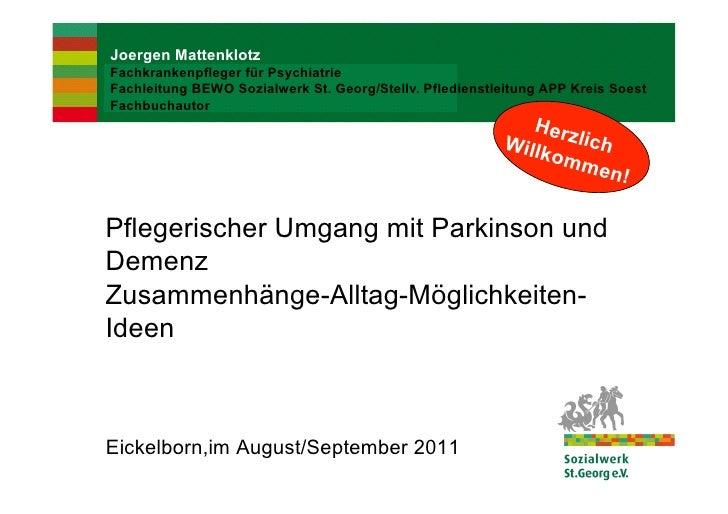 Joergen MattenklotzFachkrankenpfleger für PsychiatrieFachleitung BEWO Sozialwerk St. Georg/Stellv. Pfledienstleitung APP K...