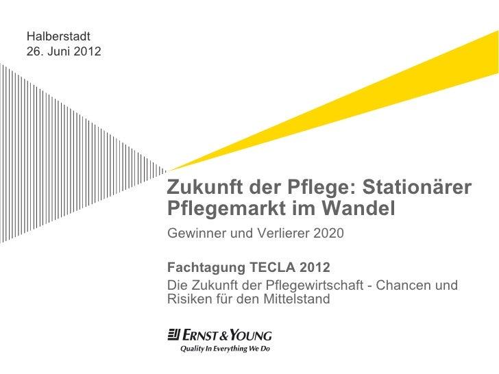 Halberstadt26. Juni 2012                Zukunft der Pflege: Stationärer                Pflegemarkt im Wandel              ...