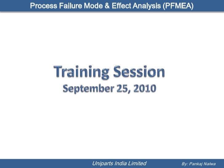 Process Failure Mode & Effect Analysis (PFMEA)                      Uniparts India Limited   By: Pankaj Nalwa