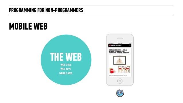 PROGRAMMING FOR NON-PROGRAMMERSTHE WEBWEB SITESWEB APPSMOBILE WEBMOBILE WEB