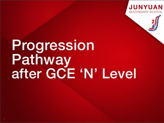JUNYUAN                     SECONDARY SCHOOL    Progression    Pathway    after GCE 'N' Level1