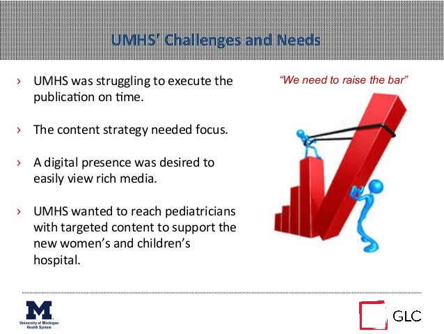 UMHS' Challenges and Needs › UMHS was struggling to execute the publica+on on +me. › The con...