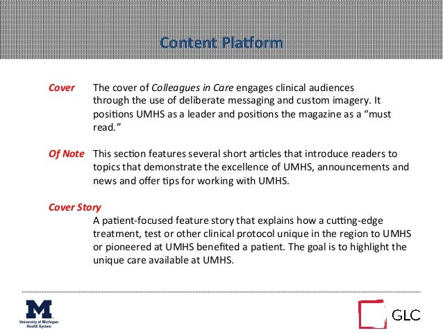 Content PlaMorm Cover  The cover of Colleagues in Care engages clinical audiences     throug...
