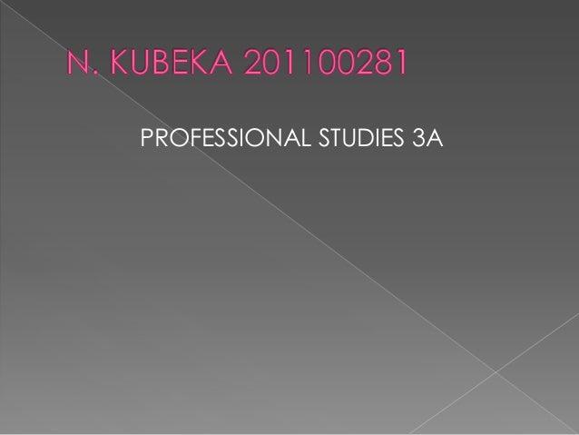 PROFESSIONAL STUDIES 3A