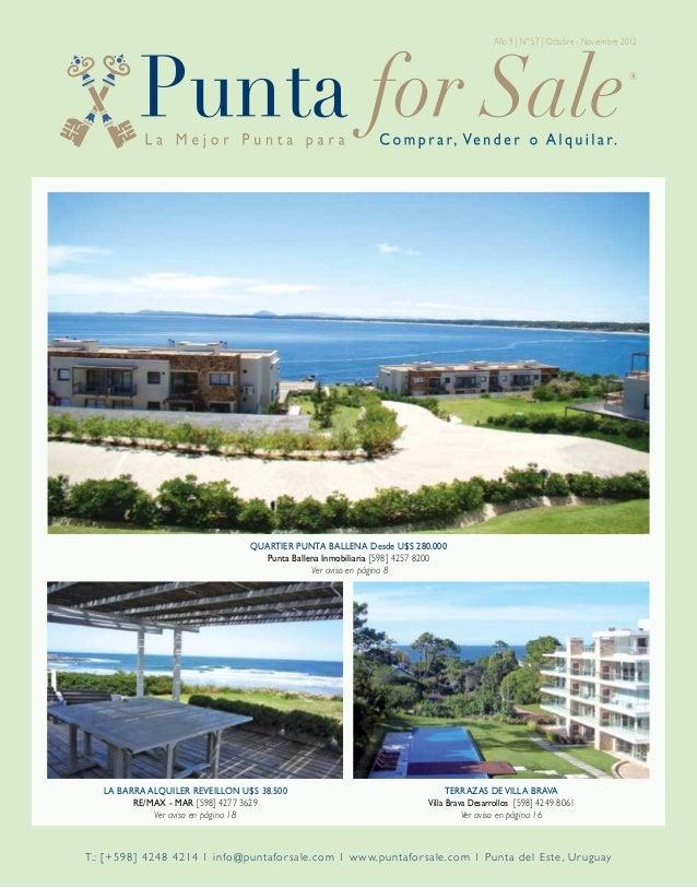 Año 9 | Nº 57 | Octubre - Noviembre 2012                                 Quartier Punta Ballena Desde U$S 280.000         ...