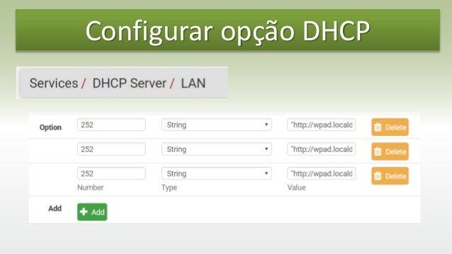 pfSense - Proxy com arquivo arquivo pac e wpad