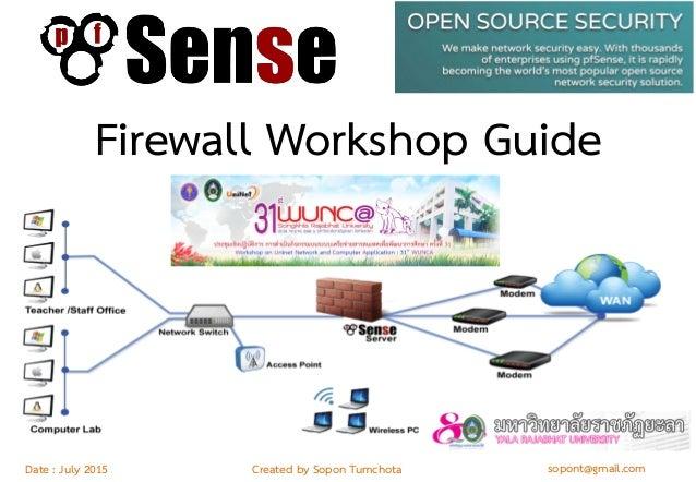 pfSense firewall workshop guide