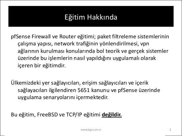 pfSense Firewall ve Router Eğitimi Slide 2
