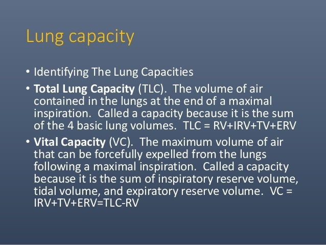 • Functional Residual Capacity (FRC). The volume of air remaining in the lung at the end of a normal expiration. Called a ...