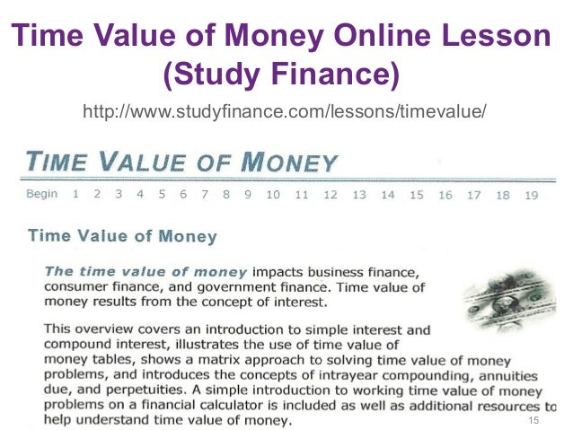 "an analysis of time value of money in businesses Financial ""wisdom"" states that business decisions should be made which targets the creation of value [5]it is widely accepted that given a positive npv, monetary value will be created for the company therefore projects with positive npv should be implemented."
