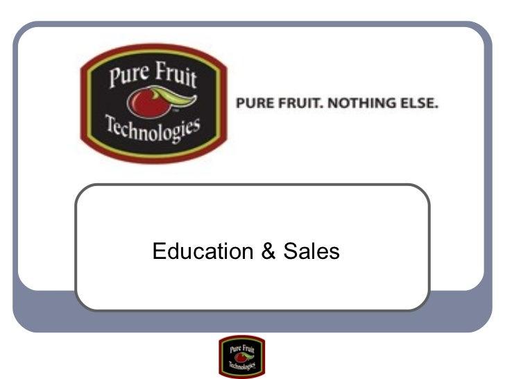 Education & Sales