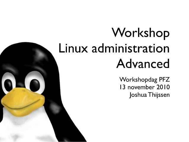 PFZ WorkshopDay Linux - Advanced