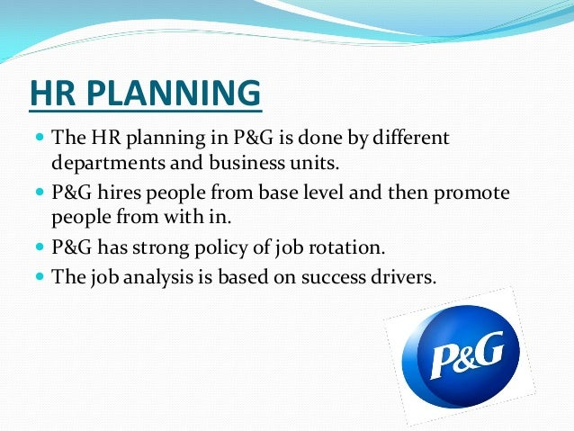 Hr Manager Procter And Gamble